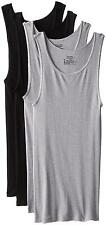 Hanes ComfortSoft Dyed Tank 4 Pack, Black Grey, Large