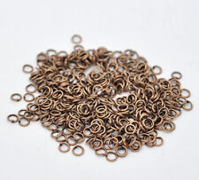 80 x Antique Copper Tone 4 mm Round Open Jumprings Jump Split Rings Connector