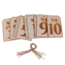Set of 10pcs Wooden Tag Table Numbers Rustic Wedding Table Decoration No 1-20