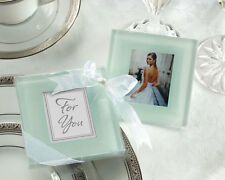 24 Forever Photo Glass Coasters Gift Sets Wedding Bridal Shower Party Favors Lot