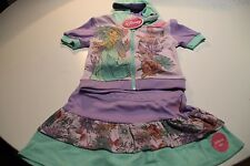 NEW DISNEY PRINCESS JASMINE OUTFIT SET HOODIE TOP AND SKIRT SET SIZE 5-6