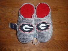 VICTORIAS SECRET PINK BLING UNIVERSITY OF GEORGIA BULLDOGS MARLED SLIPPERS NWT