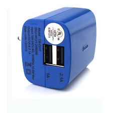 1x DUAL 2.4A USB Power Adapter AC Home Wall Charger Travel  For iPhone Samsung