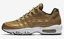 Nike AIR MAX-95 PREMIUM QS MEN'S SHOES, GOLD/BLACK/WHITE- Size US 7,7.5,8 Or 8.5