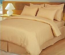 Home Bedding Choice-Duvet/Fitted/Flat 800TC Egyptian Cotton Gold Striped