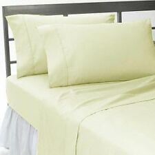 US Choice Bedding Items-Duvet/Fitted/Flat 1000TC Egyptian Cotton Ivory Solid