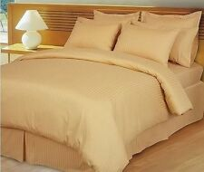 US Choice Bedding Items-Duvet/Fitted/Flat 1000TC Egyptian Cotton Gold Striped