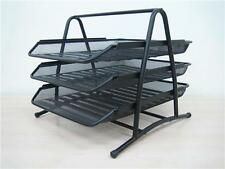 3 Tier Silver / Black Metal Wire Mesh Document Tray Organizer Filing home Office