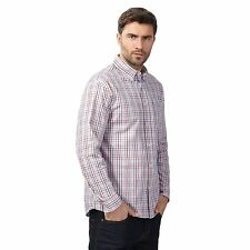 Maine New England Mens Big And Tall Red And Blue Checked Shirt From Debenhams