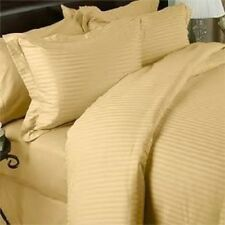 1000TC 100%EGYPTIAN COTTON LUXURY BEDDING ITEMS GOLD STRIPED ALL US SIZES