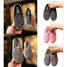Kids Boy Girl Breathable Casual Mesh Slip On Flats Sport Shoes Sneakers Trainers