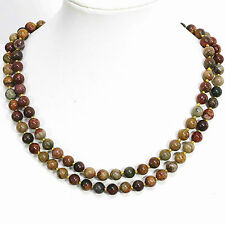 New  8,10,12mm natural multicolor Picasso jasper round beads necklace 36''