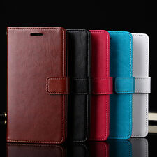 Fashion Flip Wallet Card Slot Faux Leather Case Cover for iPhone Samsung Frugal