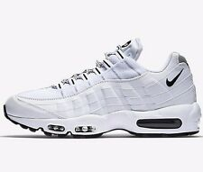 Nike AIR MAX-95 MEN'S SHOES Mesh Upper,Rubber Outsole WHITE/BLACK- US 6,7,8 Or 9