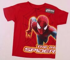 Marvel Comics The Amazing Spider-Man 2 Red Kids Boys T-Shirt Sizes 4/5,6,7 NWT