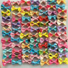 Handmade Hot Pet hair clips puppy Bows Dogs cat Bow Grooming bowknot hairpins