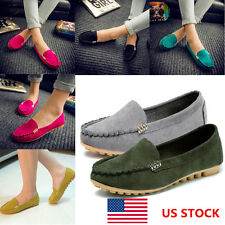 US Women Ladies Lazy Slip On Casual Peas Shoes Loafers Moccasin Flats Oxfords