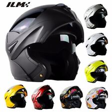9Colors DOT Modular Dual Visor Flip Up Motorcycle Helmet Motocross Full Face NEW