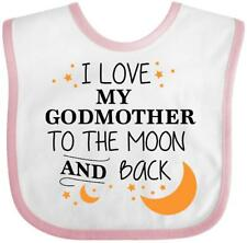 Inktastic I Love My Godmother To The Moon And Back Baby Bib Family You Godmom