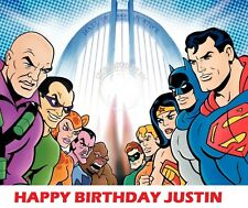 Justice League and Legion of Doom Party Edible image Cake topper