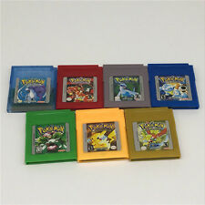 New Pokemon Cartridge For Nintendo Game Boy Color 7 Version Yellow/Gold/Red