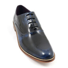Gucinari Patent Brogue Leather Shoes Oxford Slip on Mens Formal