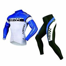 SOBIKE NENK Cycling Suits Cycling Long Jersey Long Sleeve & Shorts-Cooree Blue
