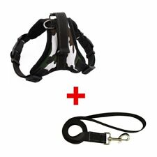 Adjustable Dog Vest Harness 3M Reflective Yarn Walking Chest Straps with Leash