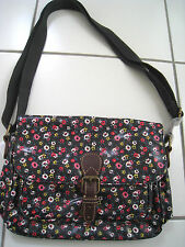 Cath kidston Small Cross Body Saddle Bag, Tiny Rose Charcoal BNWT & CK Gift Wrap