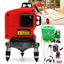 12 Lines 6 Points Level Laser Self-Leveling Outdoor 360° Rotary Lazer + Tripod