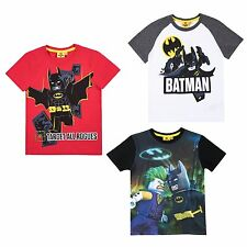 BOYS LEGO Batman T-Shirt Short Sleeve Character Cotton Top