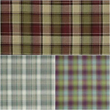 20 Mtrs SMD iLiv Tartan Check Argyle Upholstery Curtain Fabric- Natural / Claret