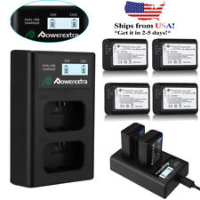 NP-FW50 Battery For Sony A6000 A6300 A5000 Alpha A7 A7R+LED Display Dual Charger