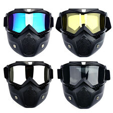 Motorcycle Bike Full Face Mask Goggles lens Nose Helmet Shield Anti Fog Eyewear