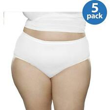Fit for Me by Fruit of the Loom Microfiber Briefs, 5 Pack Plus Size Panties