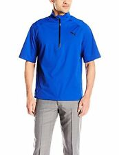 PUMA Golf NA 57049701 Puma Mens Short Sleeve Rain Popover Jacket