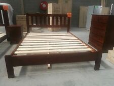 Brand New  NZ Pine Timber Bed in Queen/Double, Tallboy, Bedside Table