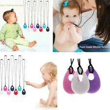 Baby Teething Pendant Necklace Mom Jewelry Baby Shower Nursing Teether Toys