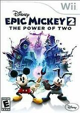 Disney Epic Mickey 2 The Power of Two - Nintendo Wii Brand New Free Shipping