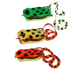 Soft Fishing Lures 3D Hollow Frog Lure Baits with 2 High-Carbon Steel Hooks