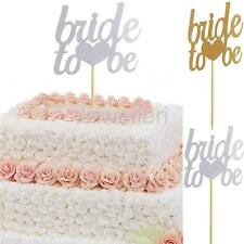 20Pcs Glitter Paper Bride to be Cake Topper Wedding Bridal Shower Cupcake Picks