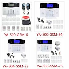 New White Wireless LCD GSM SMS Home Security Burglar House Fire Alarm System UK