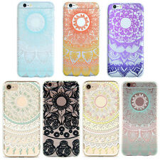 1Pcs New For iPhone Mandala Clear Colorful Floral Silicone Soft Hot Case