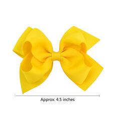 Bows Boutique Baby 1Pair Alligator Clips Big Grosgrain Ribbon Hair Clip Girls