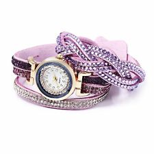 Fashion Women Bracelet Quartz Wrist Watch Rhinestone Decorated water resistant