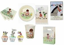 Belle & Boo Party Ware. Napkins Plates Cups Game Wraps Table Cover Loot Bags