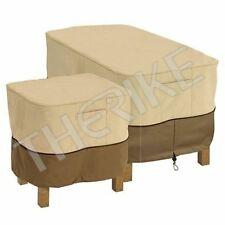 Veranda Patio Ottoman/Side Table Cover - Durable and Water Resistant Outdoor Fur