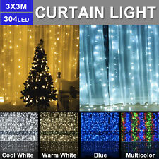 304LEDs LED String Curtain Lights Indoor Outdoor Waterfall Window LED Lamps Xmas