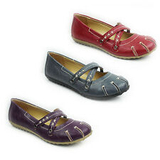 NEW WOMENS LADIES SLIP ON FLAT PUMPS MOCCASINS LOAFERS SANDALS SHOES SIZE 3-8