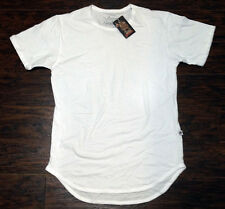 LUCKY BASTARDS LONG EXTENDED T-SHIRT FASHION STREETWEAR 100% COTTON WHITE TEE